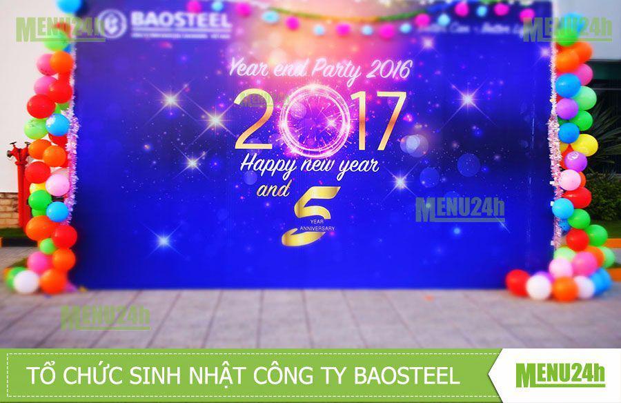 Tổ chức tiệc tất niên công ty Baosteel - Bình Dương