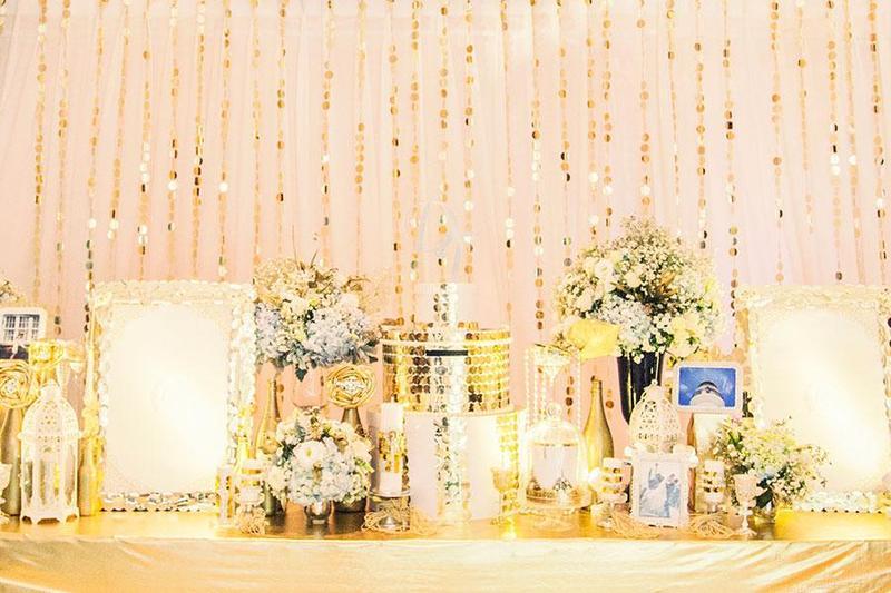 Bật mí 6 ý tưởng độc đáo cho buổi tiệc cưới vip khi dùng sắc màu óng ánh